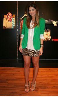 Look Verde + Onça de Thássia