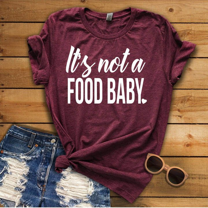 bca1fd8e53a7f Etsy It's not a food baby, Pregnancy Announcement, Photo Prop Shirt,  Christmas Pregnancy Shirt, New Mom S