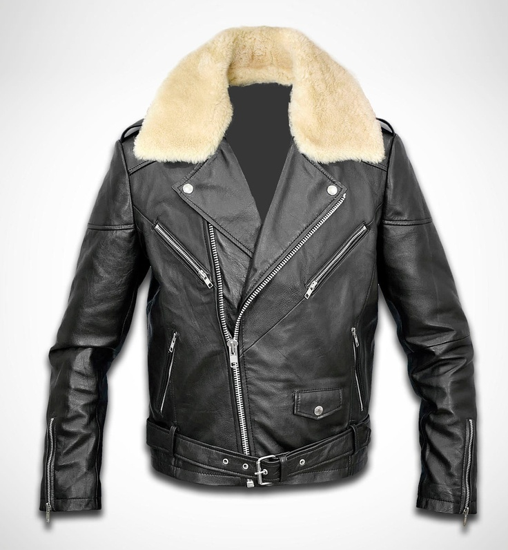 Men tailored leather biker jacket - 149.00 - Etsy.