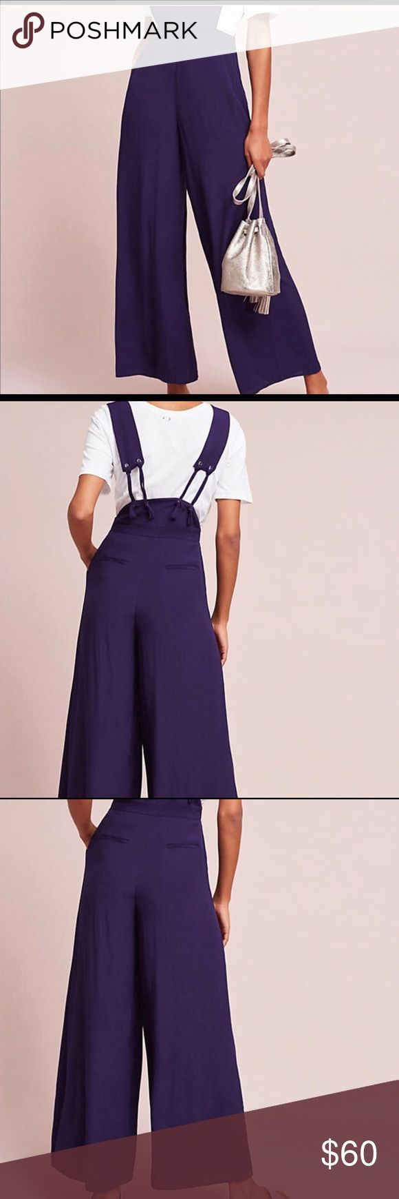 MAEVE NWOT Purple Jumpsuit MAEVE (NWOT) brand purple contemporary apron wide-leg jumpsuit. Size 10. Never worn, perfect condition! An all around season investment 🙌🏽 Perfect for spring/summer ☀️ or can be worn in fall/winter layered with a turtleneck and blazer 🍂 Open to offers so make me one 😜🙌🏽 maeve Other