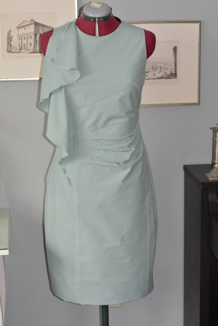 DIY Cocktailkleid mint, Volant