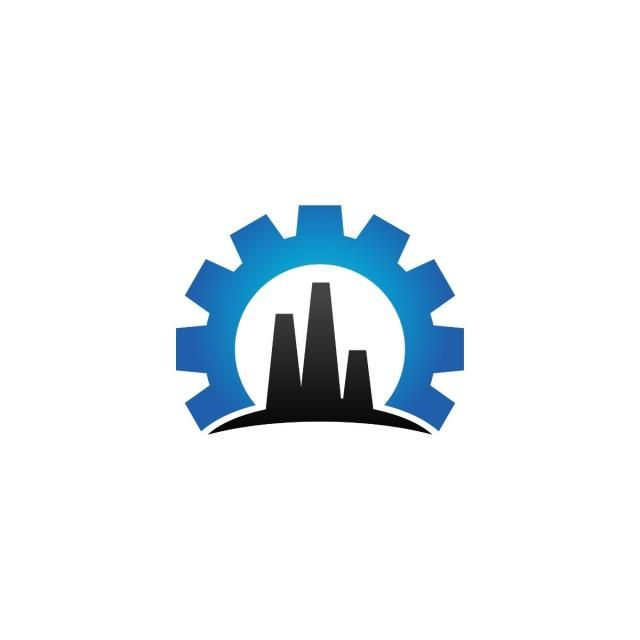 Logo Industrial Industry Vector Design Icon Gear Oil Refinery Mechanical Symbol Factory Cog Machinery Construction Logo Industry Logo Logo Design