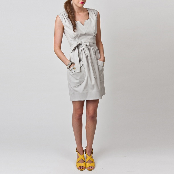 Terry Dress Light Gray fashion, gray, dresses