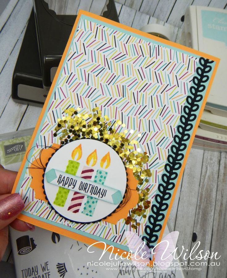 Nicole Wilson Independent Stampin' Up!® Demonstrator - What Will You Stamp 155 using Picture Perfect Birthday - #stampinup #pictureperfect #birthday #candles #WWYS155 #nicolewilsonstamp