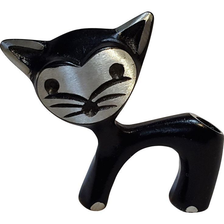 Walter Bosse design aluminum cat pen holder Mid Century Modern