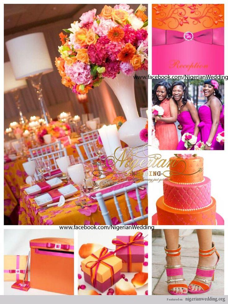 169 best Hot Pink & Orange Wedding Inspirations images on Pinterest ...