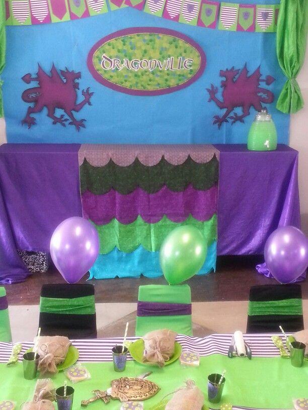 Viking theme - Cake table backdrop