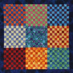 81-Patch Quilt Wall Hanging ~ Free Batik Quilt Patterns