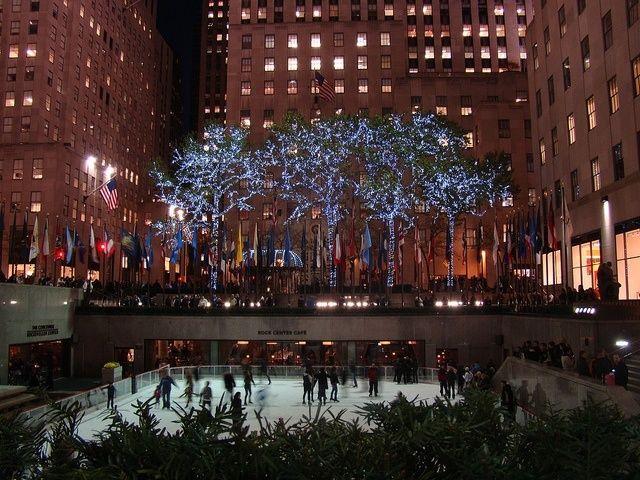 Rockefeller Center durante la Navidad en Nueva York