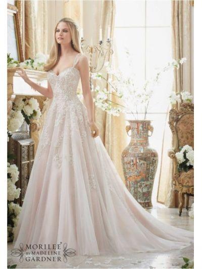 a line lace appliques mori lee 2881 wedding dress mori lee 2881 www.bestdresssellingcom