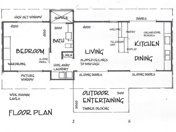 Deck House floor plan