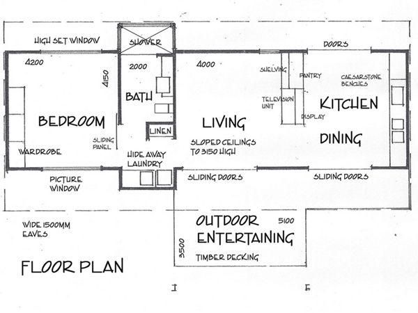 Deck House floor plan