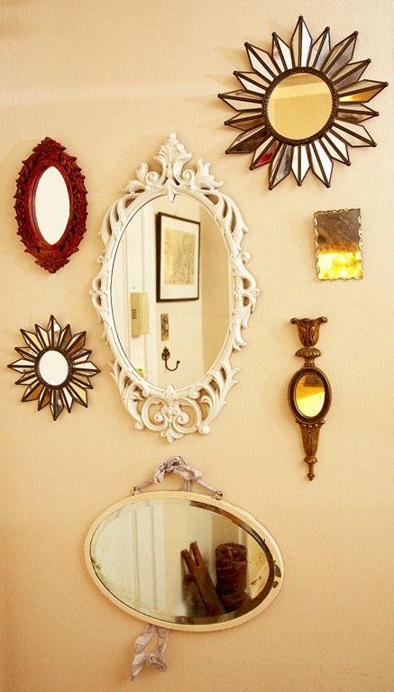 こんなふうに壁に鏡をいっぱい飾りたい