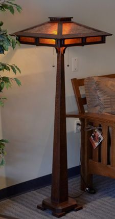 Craftsman Floor Task Lamp | Craftsman Mica Floor Lamp Holland Mission Style  Mica Floor Lamp .