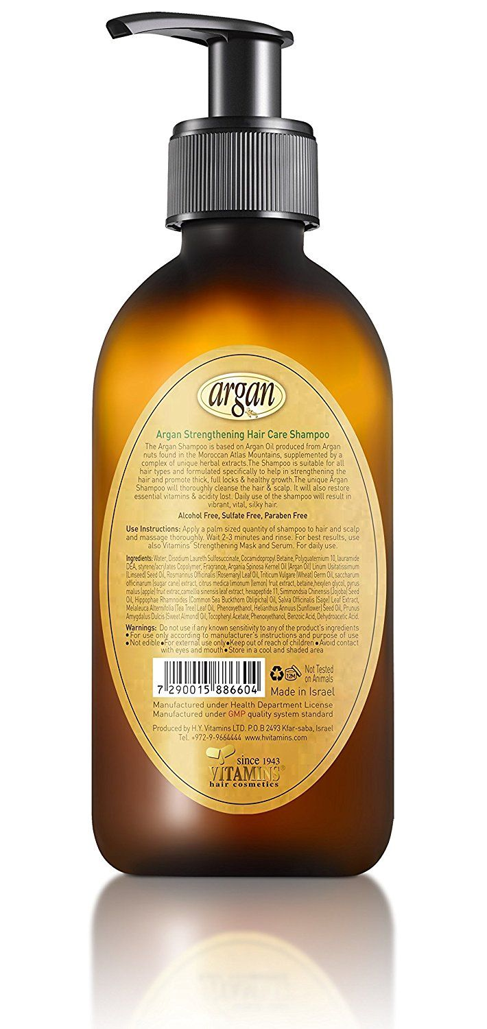 Hair Strengthening Argan Shampoo - Exclusive Herbal Oils Blend - Daily Moroccan Sulfate  #hairclip