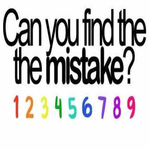Wonga IQ: Repin after you find the mistake!