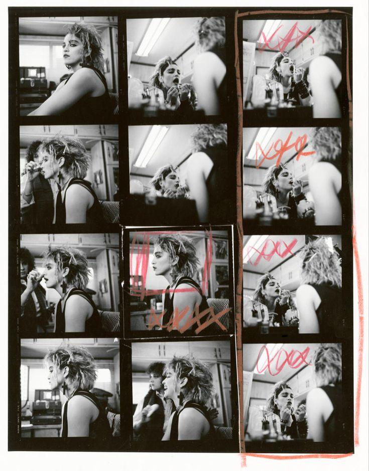 Madonna NYC83 Contact Sheet #1