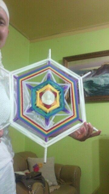 Mandala de 6 puntas. Colores de los chakras.