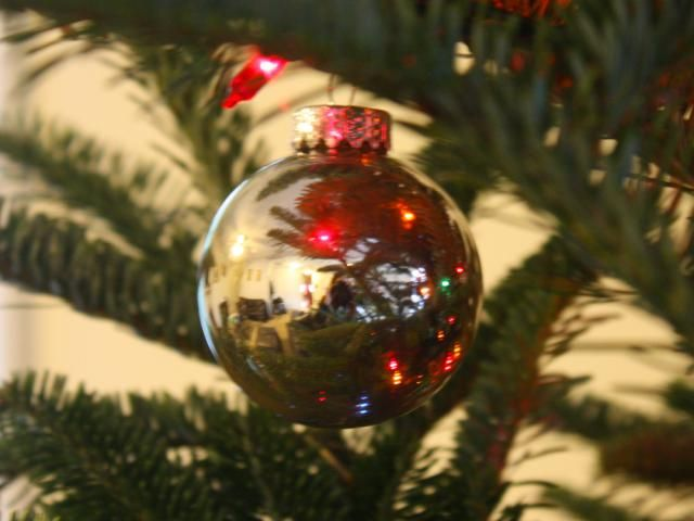 Use To Chemistry To Make Real Silver Ornaments: This silver ornament was made by chemically silvering the inside of a glass ball.