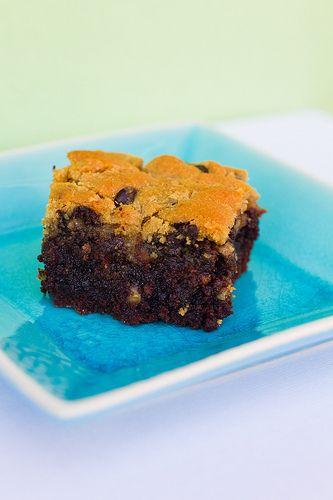 Chocolate chip praline brookies...a mix of brownie & cookie. yes ...