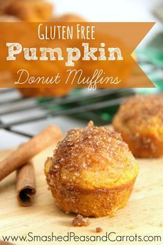 The best Guten Free Pumpkin Donut Muffins you'll ever taste! #glutenfree #fall