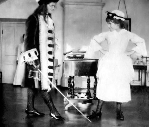 Maria and Anastasia performing ''Le Bourgeois Gentilhomme'' in Spala, 1913