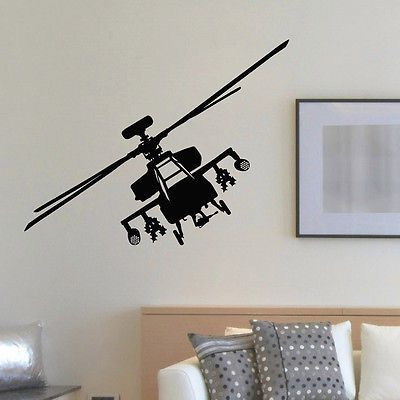 Wall Decal Vinyl Sticker Helicopter Aircraft Aviation Decor Sb163