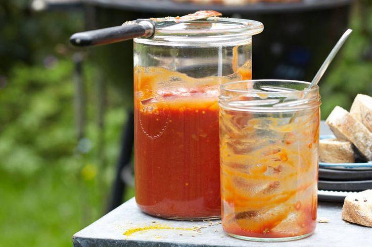 Selbst gemachte Currywurst-Sauce