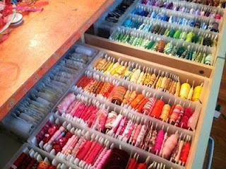 amazing ribbon drawers!