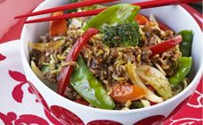 Mince Chow Mein Recipe - 20 minute dinners
