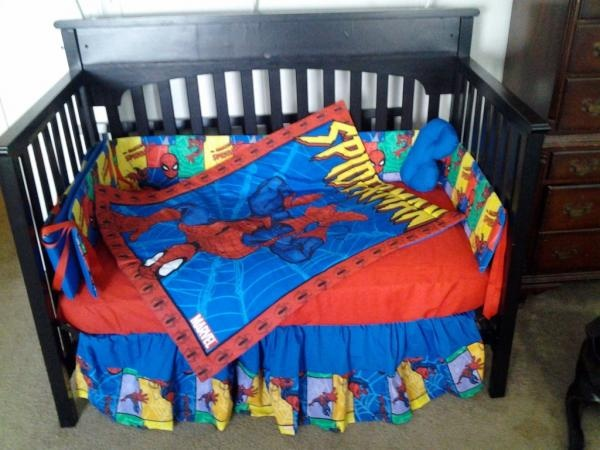 Spiderman Crib Bedding Plan For Gunter S Room