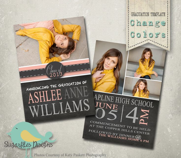 Best Senior Announcement Templates Images On