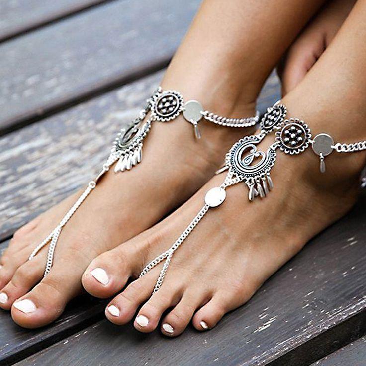 Multilayer Silver Chain Ankle Hyperbole Ethnic Anklet Bracelet Jewellery Women   Jewellery & Watches, Fashion Jewellery, Anklets   eBay!