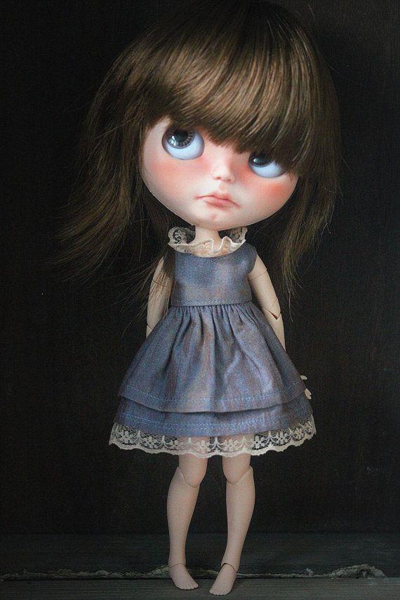 Vintage style dress for Blythe dolls - by Blythe for me