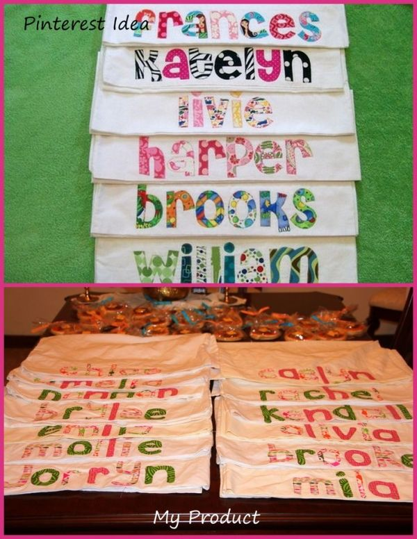 Personalized pillowcases for slumber party favors......(for boys I guess would be sleep over/hang out parties) by kara