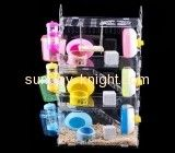 Lucite suppliers customize vision bird cages chinchilla house PCK-078
