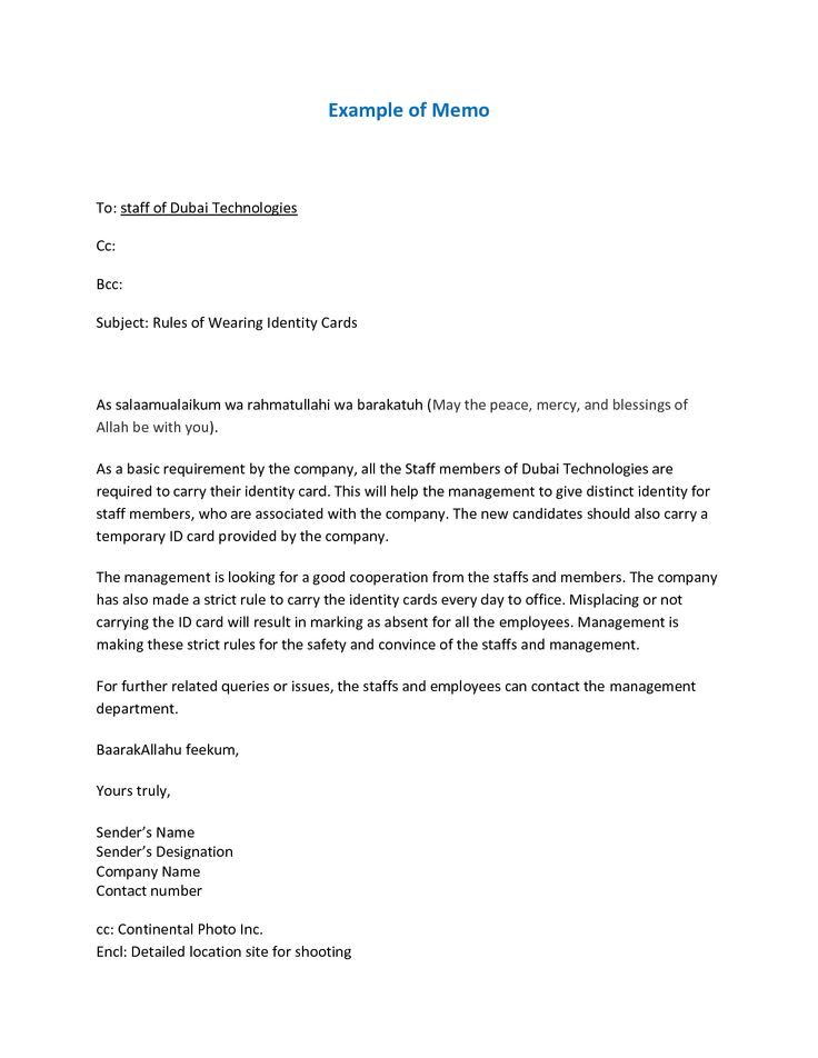 professional memo format example Google Search – Professional Memo Format Template