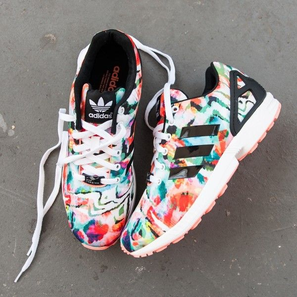 Womens adidas ZX Flux Athletic Shoe ($99) ❤ liked on Polyvore featuring shoes, athletic shoes, lightweight shoes, sport shoes, adidas footwear, breathable shoes and grip shoes