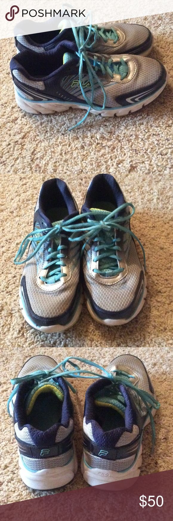 Fila running shoes Used a few times but still in great condition Fila Shoes Athletic Shoes