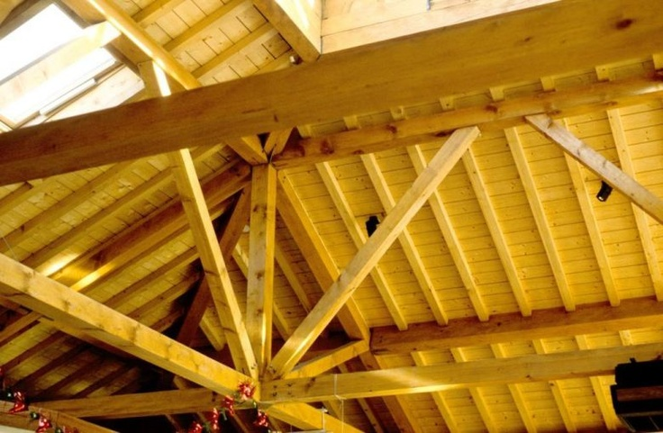 Centre multi commerces de polienas wooden structure from jacques anglade an - Anglade structure bois ...