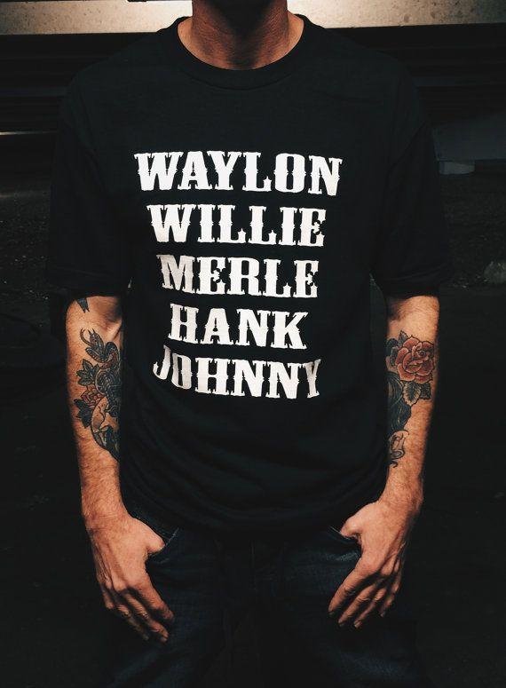 Waylon Jennings Merle Haggard Willie Nelson Hank by DirtyMackMfg