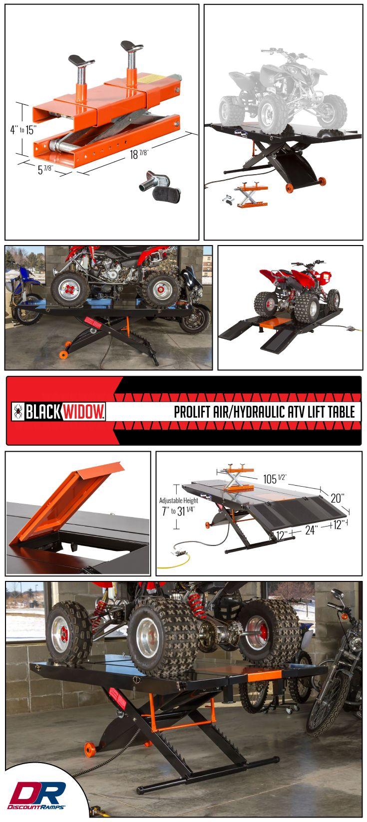 Black Widow ProLift Air/Hydraulic ATV Lift Table - 1,500 lbs