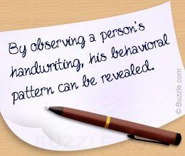 Use of handwriting analysis