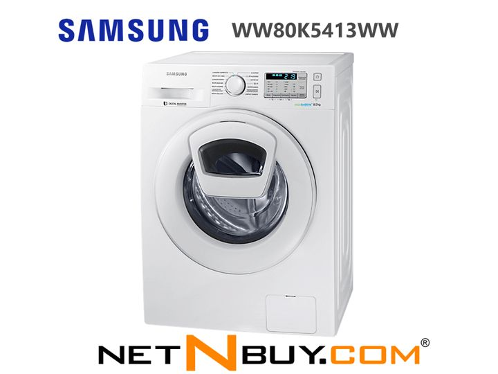 With the AddWash machine you can add forgotten parts in a simple and quick way, even after the wash cycle has started! | SAMSUNG ADDWASH WW80K5413WW, Available at NETNBUY.COM