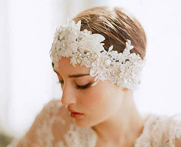 Luxurious Handmade Flower Lace Pearl Bridal Headband Veil   Material:  • Lace • Imitation Pearl • Crystal Size:  • Length - 14.9 in (38cm)  • Width - 4.7 in (12cm)  ❤Yes, I Do! Ships Everywhere!❤  Estimated delivery time: USA and All Other Countries: 15-25 business days.  Please che...