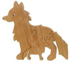 Fox Puzzle Wood Baby Fox Eco Friendly and by littlewoodenwonders