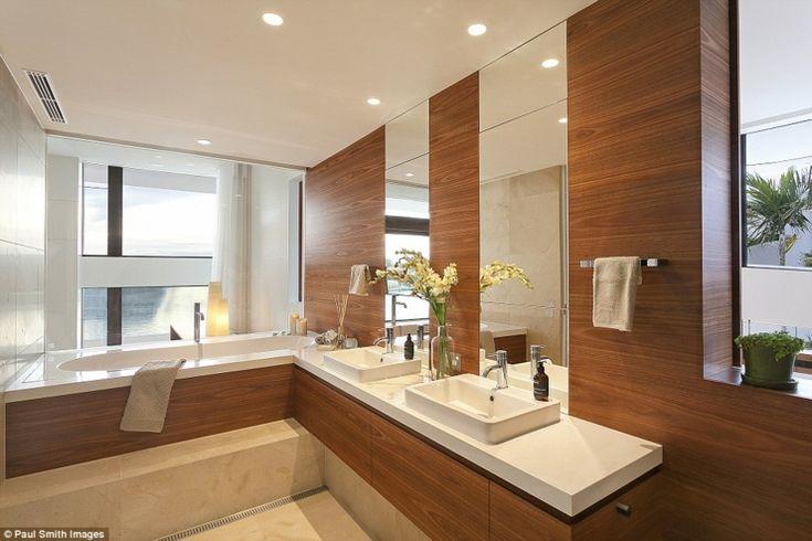 66 best salles de bain 2015 images on pinterest room bathroom ideas and ar - Salle de bain design bois ...