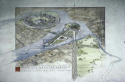 F.L. WRIGHT, Plan for a greater Bagdad