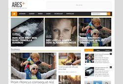 Ares Stylish Magazine Blogger Template