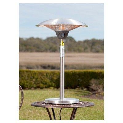 Cimarron Stainless Steel (Silver) Table Top Halogen Patio Heater - Stainless Steel - Fire Sense